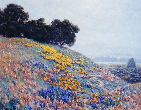 Granville Redmond - Flowering Hillside