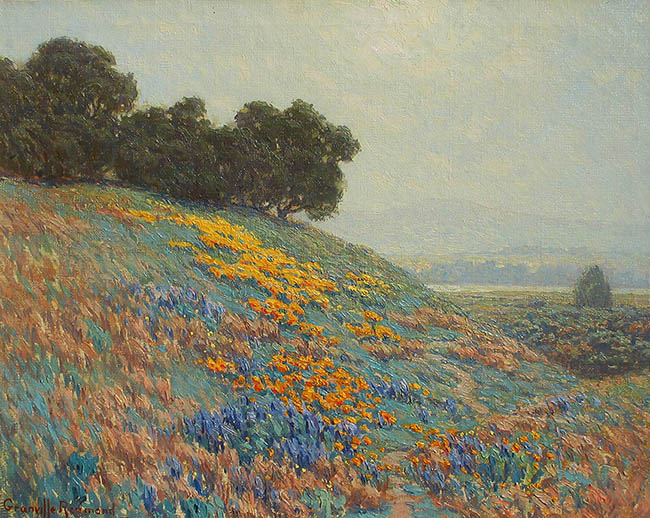 Granville Redmond - Poppies and Lupine