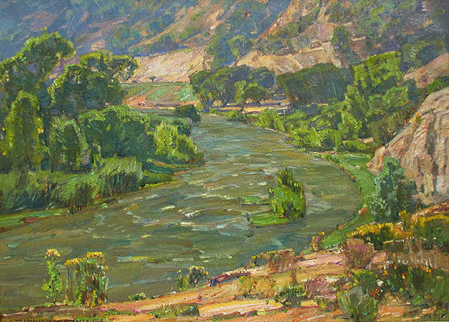 William Wendt - At the Bend in the River
